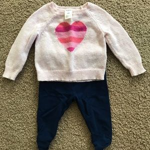 Baby girl 3-6M Valentine's Day casual outfit